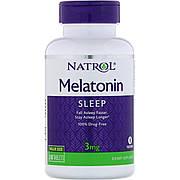 Мелатонин, Melatonin, 3 мг, Natrol, 240 таблеток