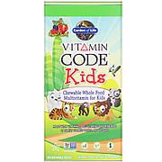 Поливитамины для детей, вкус вишни, Vitamin Code, Garden of Life, 30 жевательных мишек