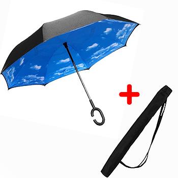 Зонт обратного сложения Up-brella Небо Голубой (2d-73)