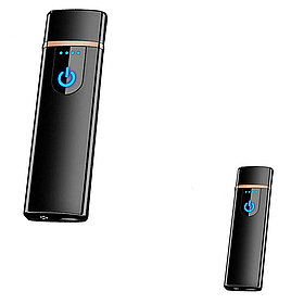 Электроимпульсная USB зажигалка SUNROZ TH-752 Black 2 шт. в комплекте (vol-353)