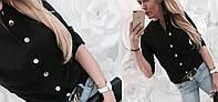 Блуза женская стильная на пуговицах в расцветках  43528