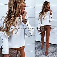 Блуза женская стильная с пуговицами  43529, фото 1