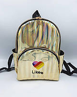 Рюкзак LIKEE. Рюкзак блестящий молодежный Лайк