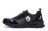 Мужские кожаные кроссовки Pitbull Black, фото 1