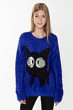 Детский свитр для девочки Young Reporter Польша 193-0770G-05-490-1 Синий 152
