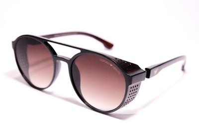Солнцезащитные круглые очки в матовом пластике с дырочками, унисекс