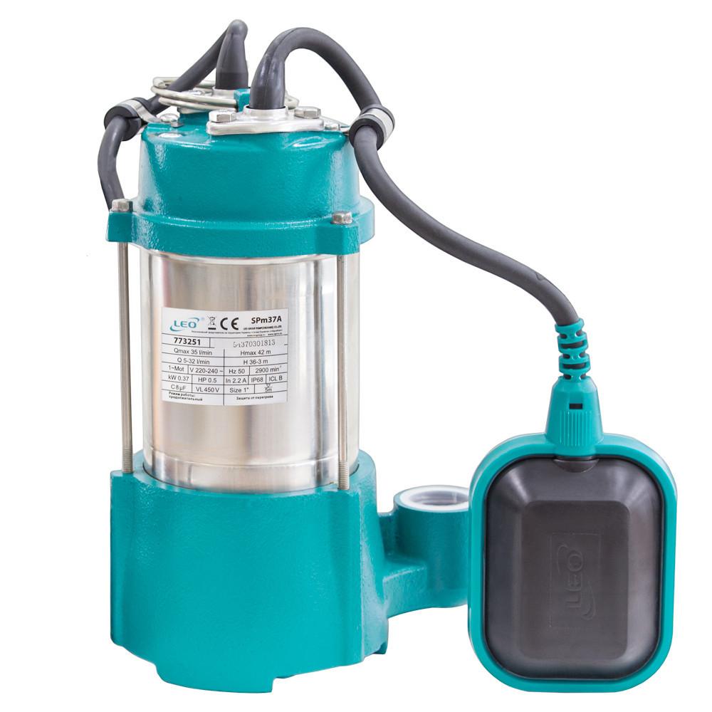 Насос дренажный Leo 0.37 кВт Hmax 42 м Qmax 35 л/мин