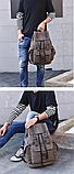 Рюкзак з лямками мішковина, фото 2