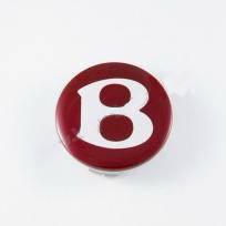Колпачок в легкосплавные диски Bentley красный (68 мм)