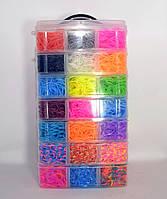 Большой набор резинок для плетения браслетов 7 ярусов 19000