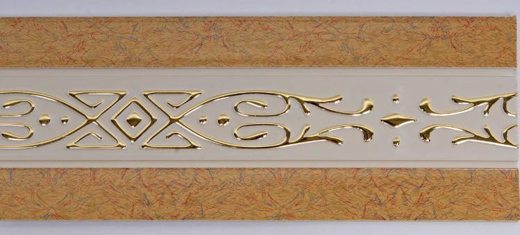 Декоративная лента на потолочный карниз КСМ ( 70 мм)Бленда Виктория Песок