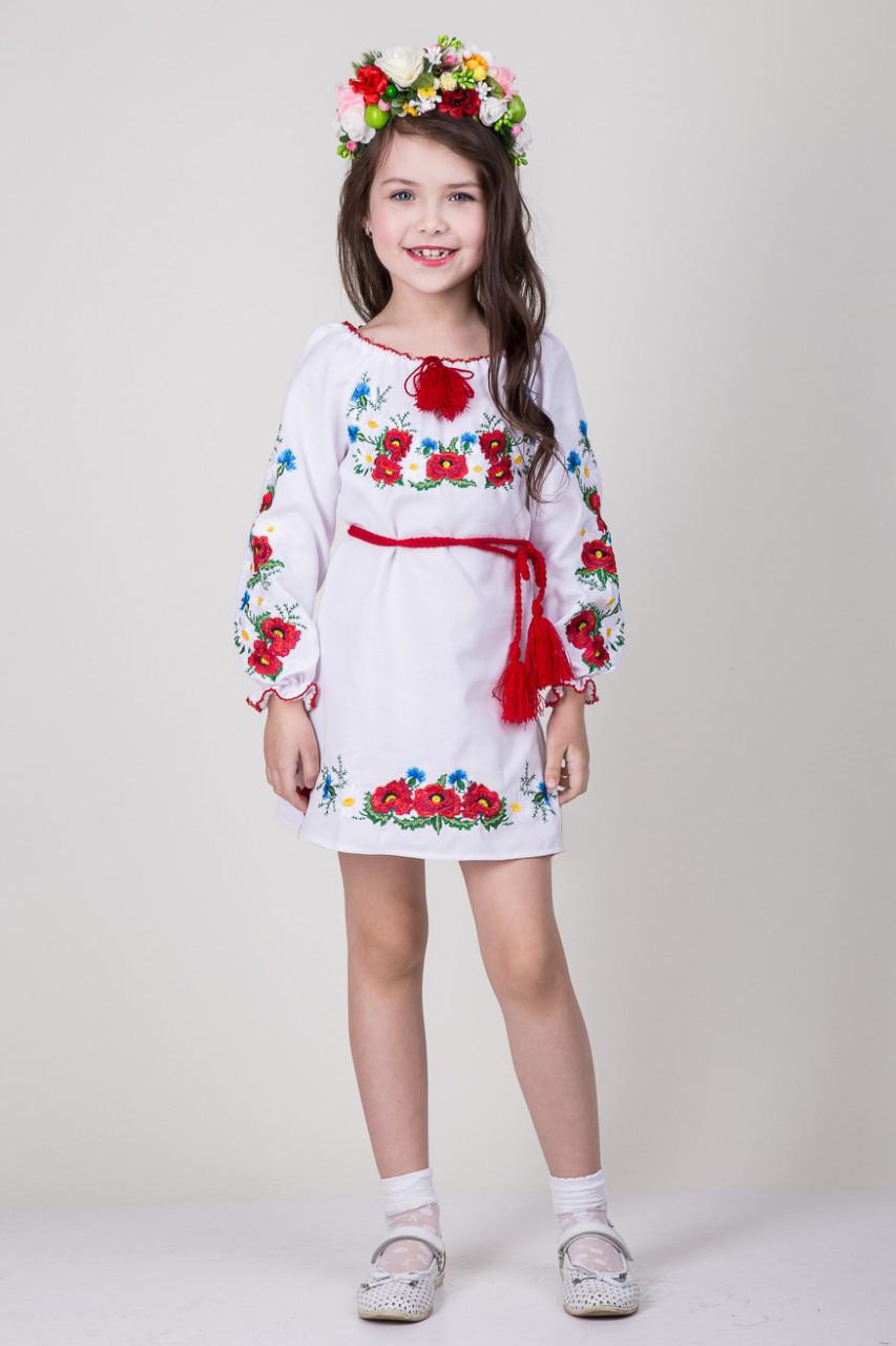 Вишите підліткове плаття на льоні Марися