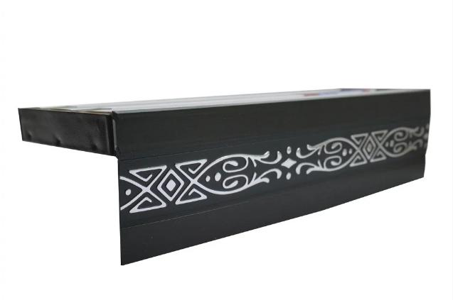 Декоративная лента на потолочный карниз КСМ ( 70 мм)Бленда Виктория Венге Серебро