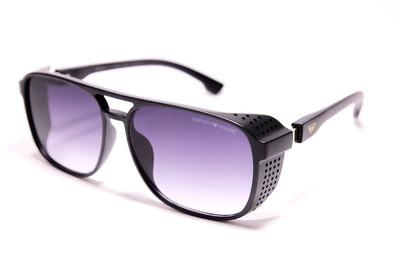 Класичні сонцезахисні окуляри в матовому пластику з дірочками, унісекс, Armani