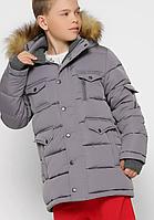 Пухова куртка з хутряною опушкою, на зростання 110-158