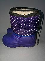 Зимние  дутые сапожки с пеночным низом для девочки 30, 31, 33 размер, фото 1