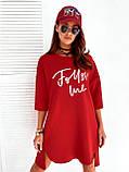 Платье женское спортивное красное, мокко, 42-46, фото 3