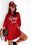 Платье женское спортивное красное, мокко, 42-46, фото 2