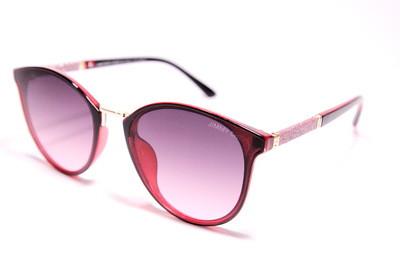 Сонцезахисні окуляри жіночі типу метелика в пластиковій з елементами металу оправі, градієнтні, Jimmy Choo