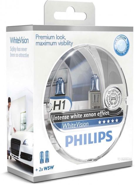 Автолампы Philips WhiteVision H1 (12258WHVSM)
