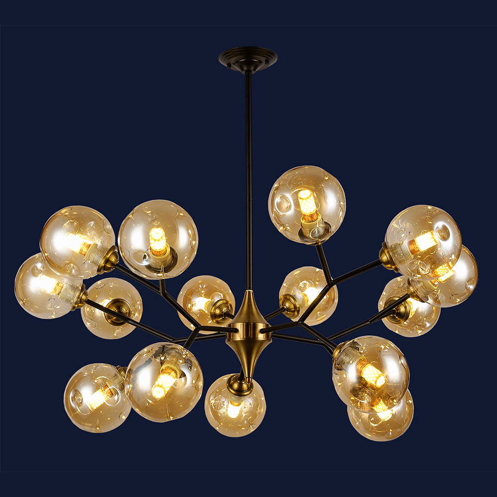 Современная металлическая люстра в стиле Loft цвет черный Levistella&756PR0030-15 BK+BR