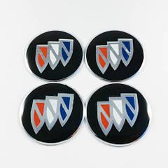 Наклейки для колесных колпачков в легкосплавные диски с логотипом   Buick (56 мм)