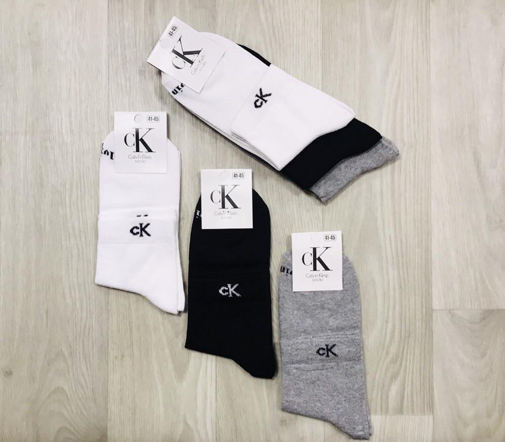 Шкарпетки чоловічі демісезонні бавовна середні Calvin Klein Туреччина розмір 41-45 асорті