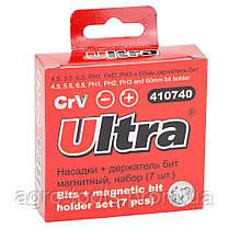 Набор бит + адаптер 7шт S2 (пласт кейс) ULTRA (4013102), фото 2