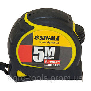 Рулетка Foreman 5м×19мм SIGMA (3815151), фото 2