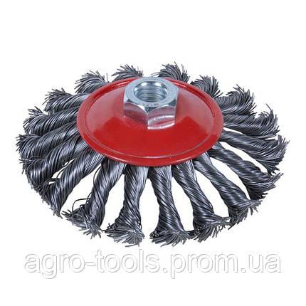Щетка проволочная конусообразная Ø100мм М14×2мм (стальная витая) SIGMA (9024101), фото 2