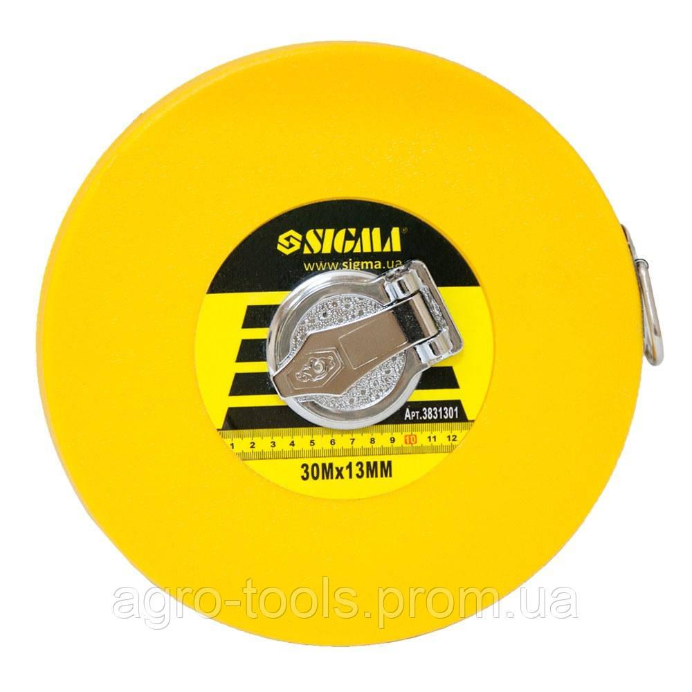 Рулетка стекловолокно 30м×13мм SIGMA (3831301)