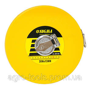 Рулетка стекловолокно 30м×13мм SIGMA (3831301), фото 2