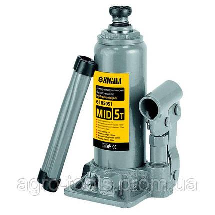 Домкрат гидравлический бутылочный mid 2т H 148-276мм SIGMA (6105021), фото 2