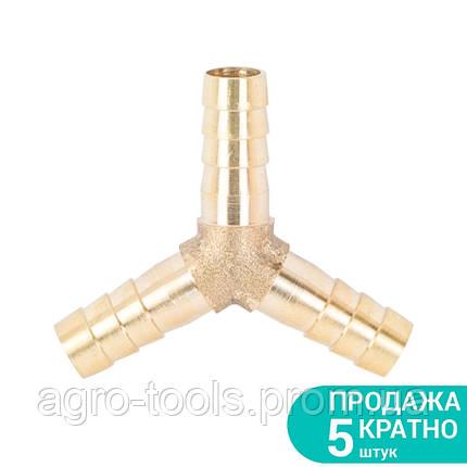 Соединение для шланга Y 8мм (латунь) SIGMA (7024031), фото 2