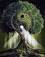 """Набор для рисования картин по номерам """"Дерево жизни-Инь и Янь"""""""