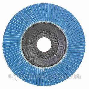 Круг лепестковый торцевой Т29 (конический) ZA Ø125мм P100 SIGMA (9173551), фото 2