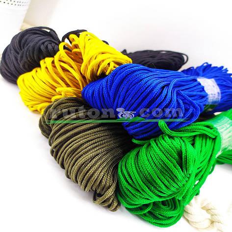 Синий вязаный рыболовный шнур 3 мм 100м для вязания крючком и поделок хендмей, фото 2