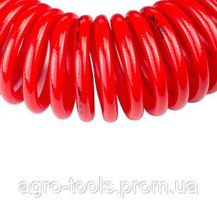 Шланг спиральный полиуретановый (PU) армированный 15м 6.5×10мм REFINE (7013481), фото 2
