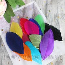 Разноцветные перья ярких цветов 4-8 см 10 шт.