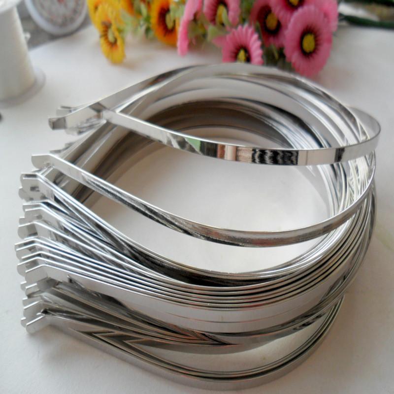(50 шт) Обруч металлический (5мм) Цвет - серебро Цена за 50 шт