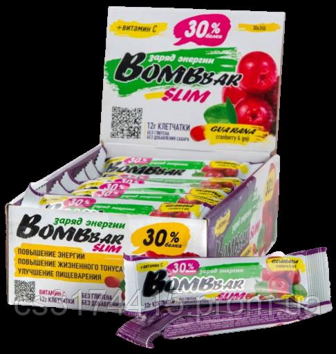Протеїновий батончик Bombbar SLIM Журавлина-Ягоди Годжі (35 грамів)