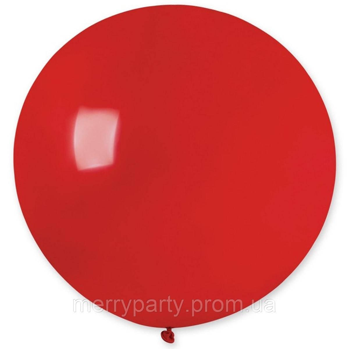 """31"""" (80 см) пастель красный G-45 Gemar Италия латексный шар"""