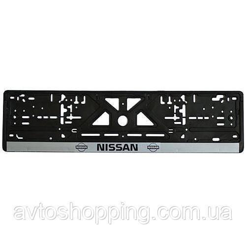 Рамка номера пластик NISSAN (Укр)