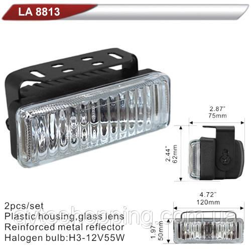 Фары дополнительные  DLAA 8813 W/H3-12V-55W/120*50mm (LA 8813 W)