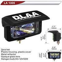 Фара дополнительная  DLAA 1005-RY/H3-12V-55W/160*83mm/крышка (LA 1005-RY)