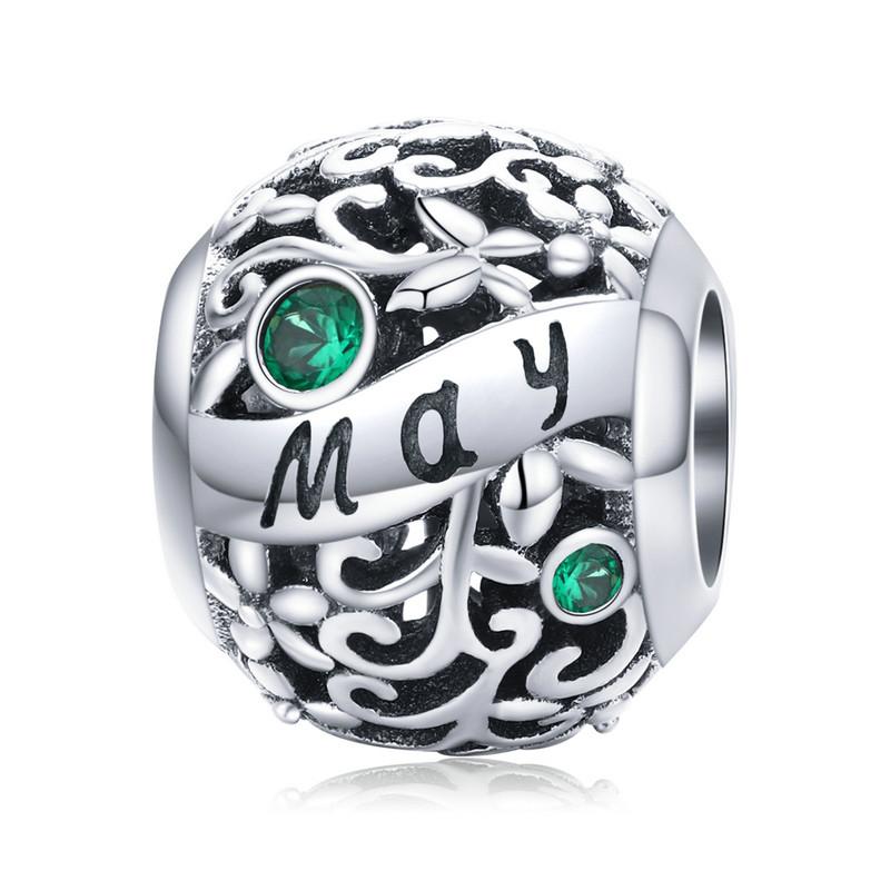 "Шарм ""May"" (Май) серебро 925 проба, кубический цирконий"