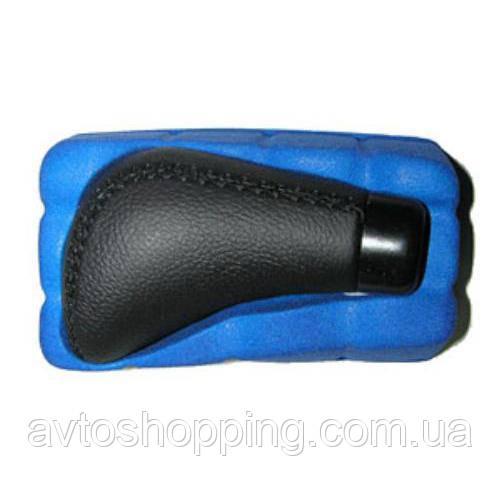 Ручка к/п декор. (F 25015 P) черная кожа (F 25015 P)