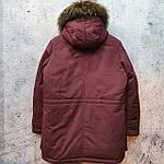 Парку чоловіча зимова з хутром Vivacana 67AW729M. Аляска. Парку бордова., фото 9