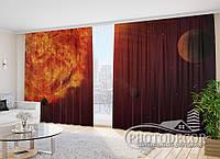 """Фото Штори """"Вибух планети 1"""" 2,7 м*2,9 м (2 полотна по 1,45 м), тасьма"""