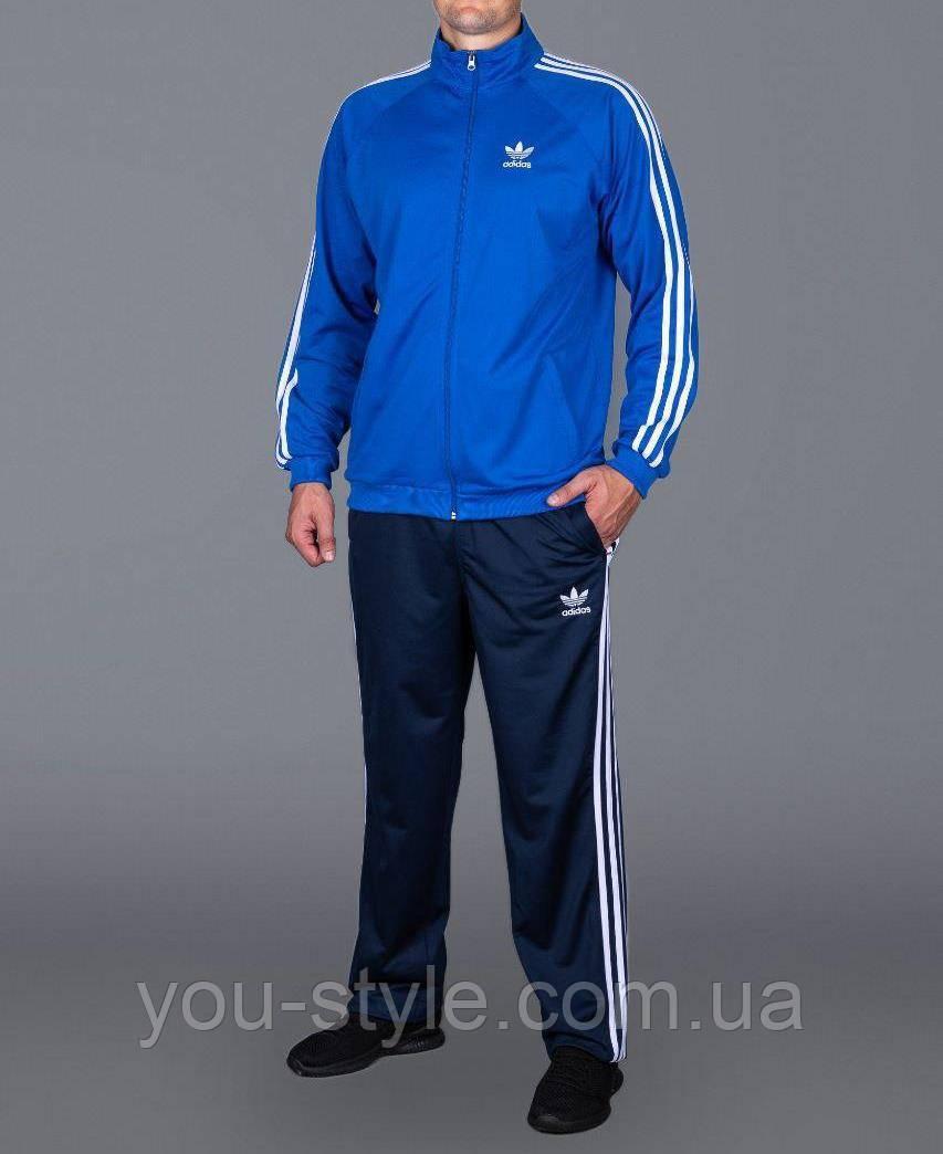 Спортивный костюм Adidas Батал 5463 Голубой